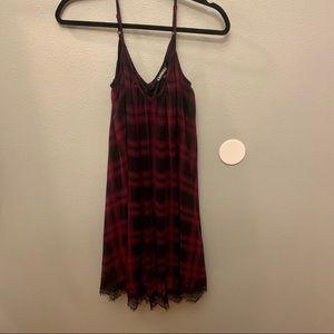 Plaid and lace dress
